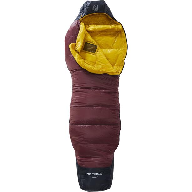 Nordisk Oscar -2° Curve Sleeping Bag M rio red/mustard yellow/black
