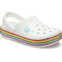 Crocs Crocband Rainbow Glitter Clogs Kinder white