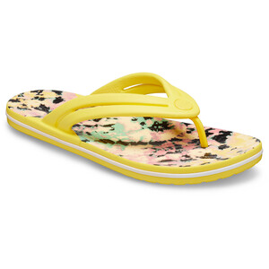 Crocs Crocband Tie Dye Mania Varvassandaalit Naiset, sunshine sunshine