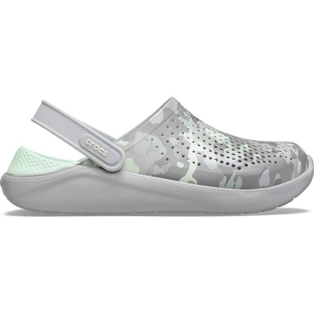 Crocs LiteRide Printed Camo Clogs neo mint/light grey