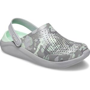 Crocs LiteRide Printed Camo Clogs neo mint/light grey neo mint/light grey