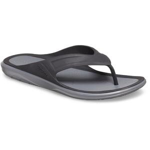Crocs Swiftwater Wave Flip Sandalen Herren schwarz/grau schwarz/grau