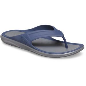 Crocs Swiftwater Wave Flip Sandalen Herren blau/grau blau/grau