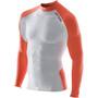 ORCA Mesh Rash Guard Sweat-shirt, blanc/orange