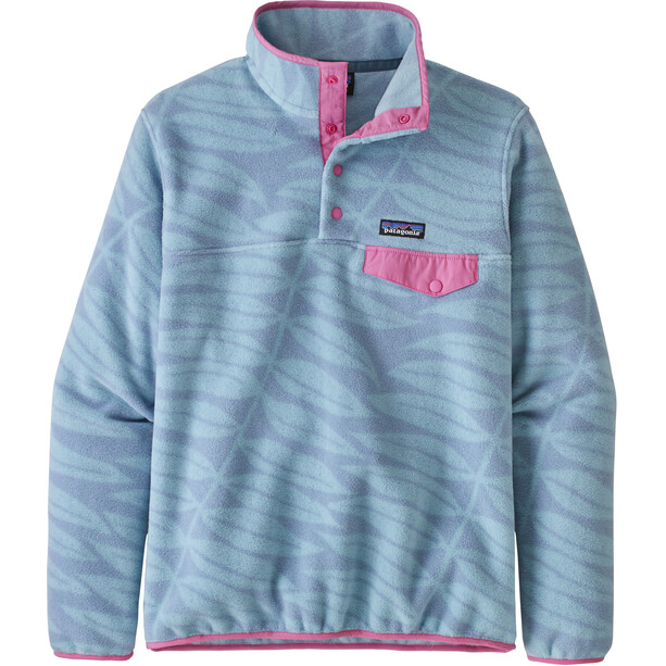 Patagonia Lightweight Synchilla Snap-T Pull Femme, bleu/rose