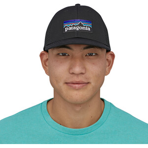 Patagonia P-6 Logo LoPro Trucker Cap black black