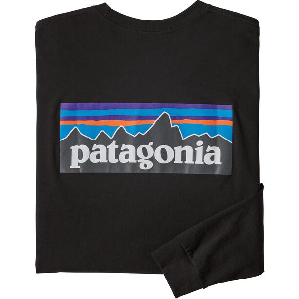 Patagonia P-6 Logo Langarm Responsibili-Tee Herren black