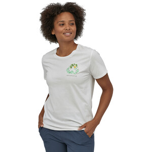 Patagonia Fiber Activist Organic Rundhals T-Shirt Damen white white