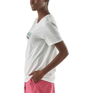 Patagonia Pastel P-6 Logo Organic Rundhals T-Shirt Damen white white