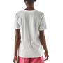 Patagonia Pastel P-6 Logo Organic Rundhals T-Shirt Damen weiß