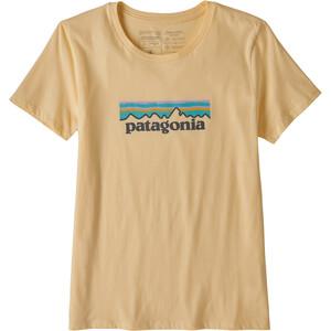 Patagonia Pastel P-6 Logo Organic Rundhals T-Shirt Damen orange orange