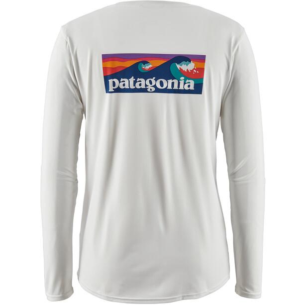 Patagonia Capilene Cool Daily Graphic Langarmshirt Damen weiß