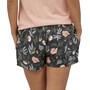 Patagonia Island Hemp Baggies Shorts Women, fiber flora multi big/ink black