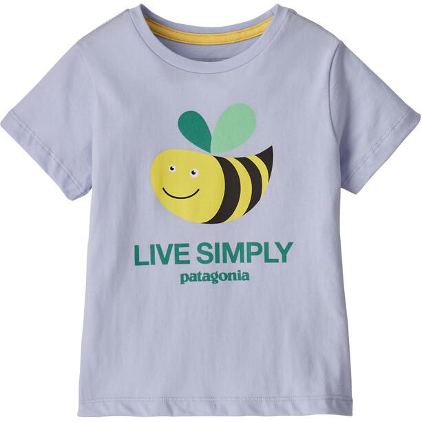 Patagonia Live Simply Organic T-Shirt Kinder live simply bee cool man/beluga