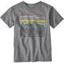 Patagonia Fitz Roy Skies Organic T-Shirt Enfant, gris