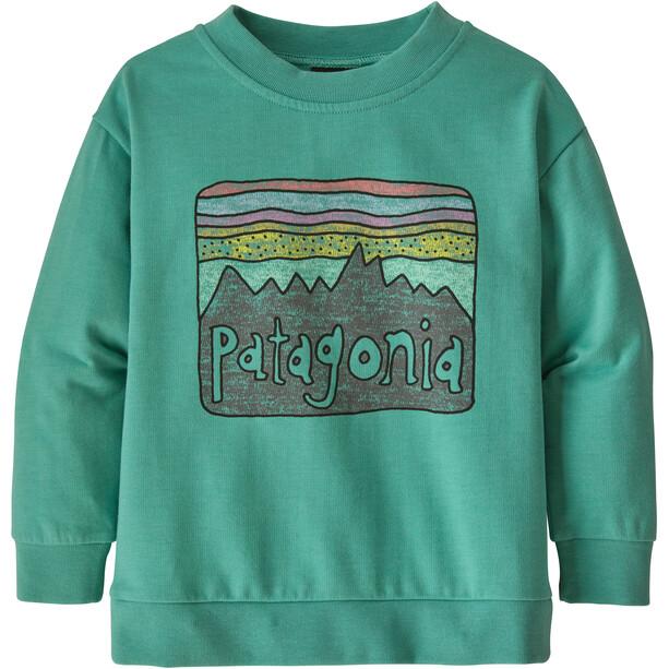 Patagonia Lightweight Rundhals-Sweatshirt Kinder grün