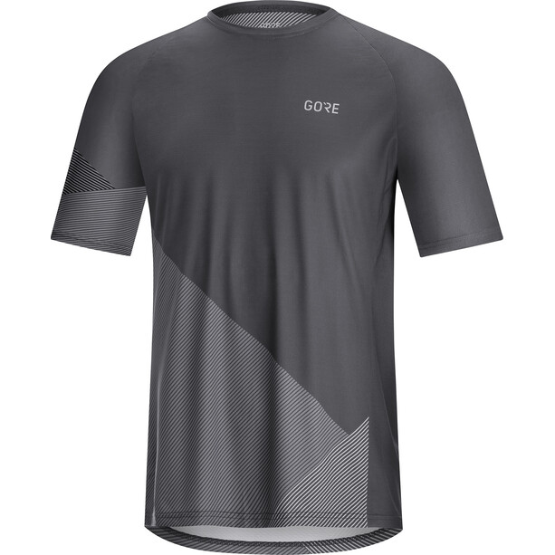 GORE WEAR C5 Trail Short Sleeve Jersey Men, dark graphite grey/graphite grey