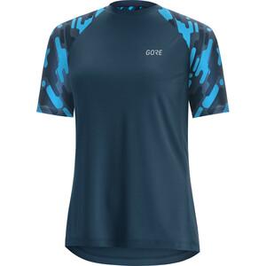 GORE WEAR C5 Trail Kurzarm Trikot Damen deep water blue/dynamic cyan deep water blue/dynamic cyan