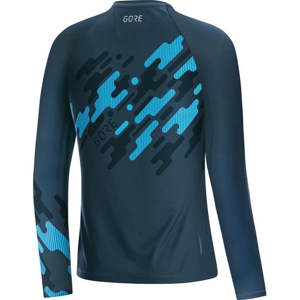 GORE WEAR C5 Trail Langarm Trikot Damen deep water blue/dynamic cyan