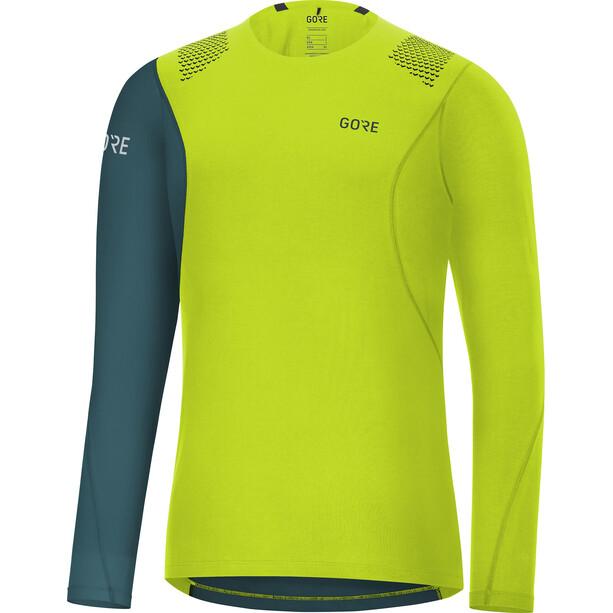 GORE WEAR R7 Langarmshirt Herren blau/grün