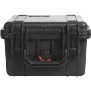 Peli 1300 Box mit Schaumeinsatz black black