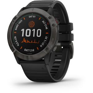 Garmin Fenix 6X Pro Solar Titanium DLC Multisport GPS Smartwatch black/slate grey black/slate grey
