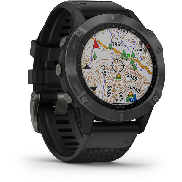 Garmin Fenix 6 Sapphire Multisport GPS Smartwatch black/slate grey