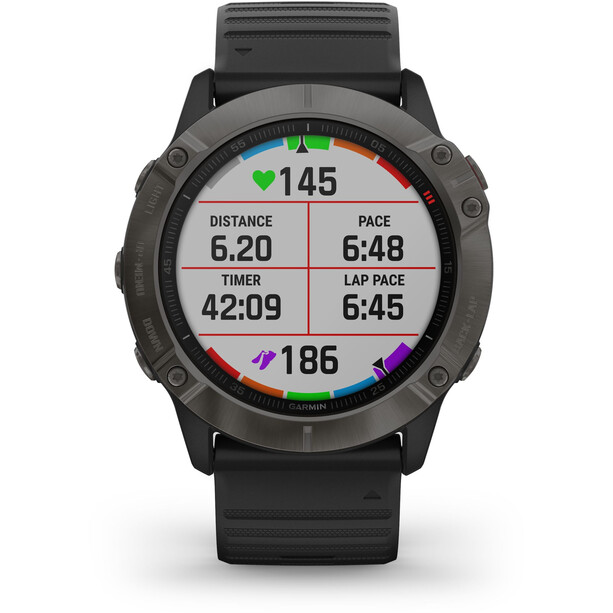 Garmin Fenix 6X Sapphire DLC Multisport GPS Smartwatch black/slate grey