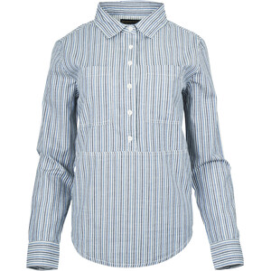 United By Blue Natural Popover Shirt Dames, blauw blauw