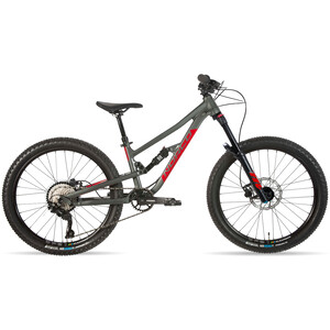 "Norco Bicycles Fluid FS 2 24"" Kinder charcoal grey/candy apple red charcoal grey/candy apple red"