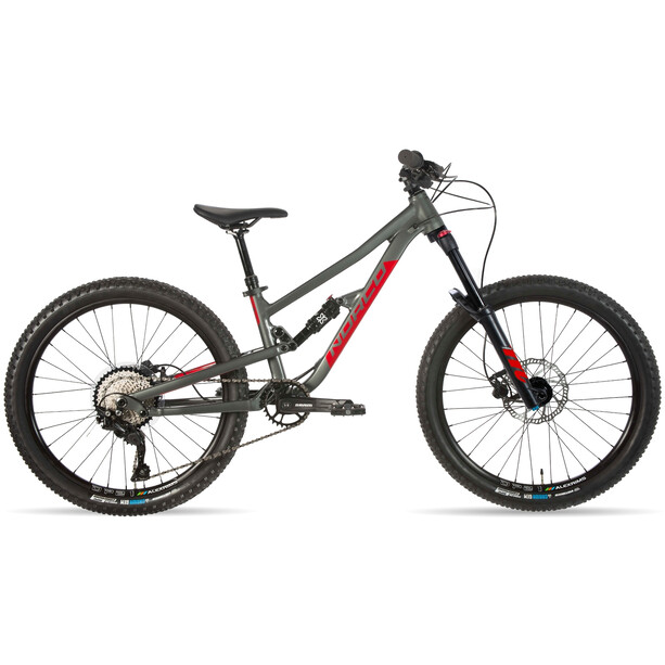 "Norco Bicycles Fluid FS 2 24"" Kinder charcoal grey/candy apple red"
