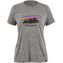 Patagonia Capilene Cool Daily Graphic Shirt Dam free hand fitz roy/feather grey