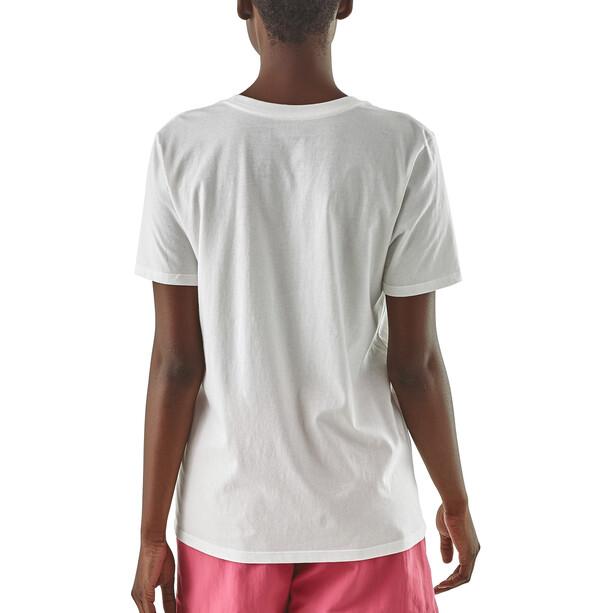 Patagonia Pastel P-6 Logo Organic Crew T-Shirt Dam white