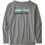 Patagonia Pastel P-6 Logo Responsibili Tee Dam gravel heather