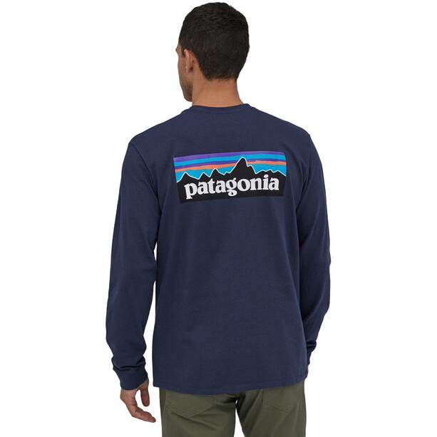 Patagonia P-6 Logo LS Responsibili Tee Herr classic navy