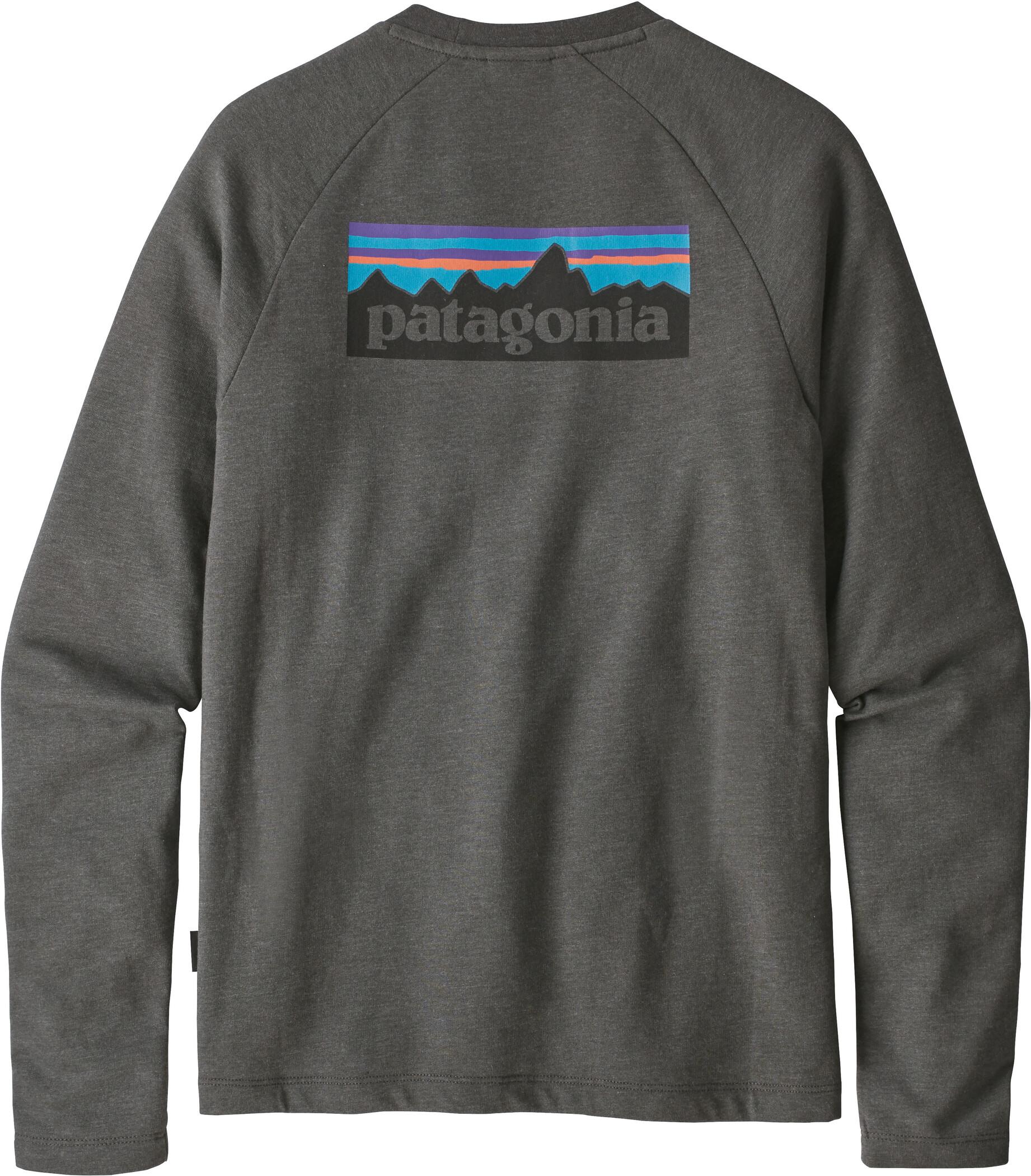 Patagonia P 6 Label Lightweight Crew Sweatshirt Herr forge grey