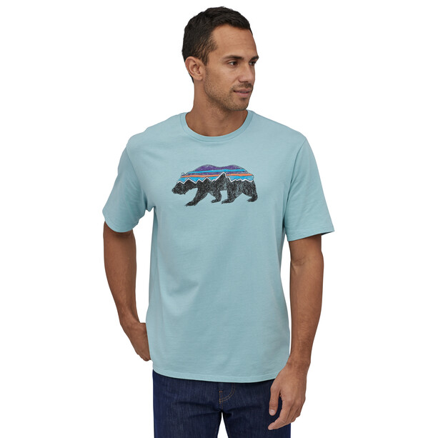 Patagonia Fitz Roy Bear Organic T-Shirt Herr big sky blue