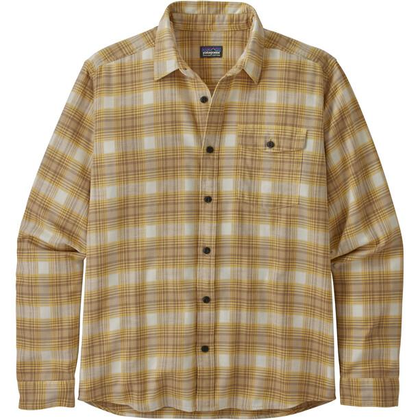 Patagonia LW Fjord Flannel Shirt Herr grange/surfboard yellow