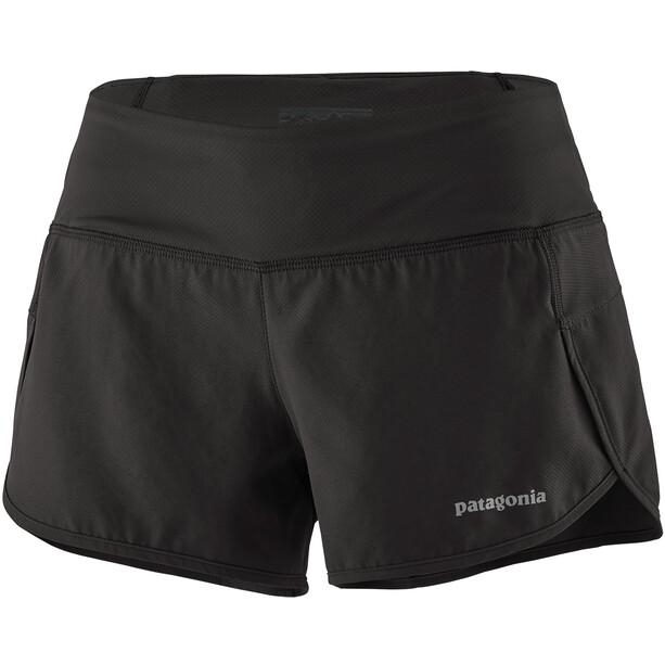"""Patagonia Strider Shorts 3 1/2"""" Dam svart"""