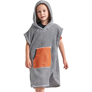 DIDRIKSONS Pier Poncho Kinder navy simple stripe navy simple stripe