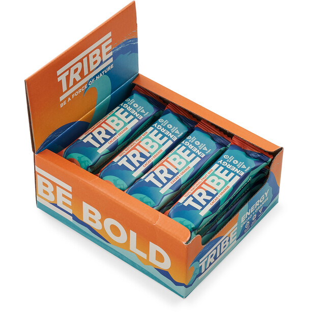 TRIBE Vegan Energy Bar Box 16x42g Kakao/Orange