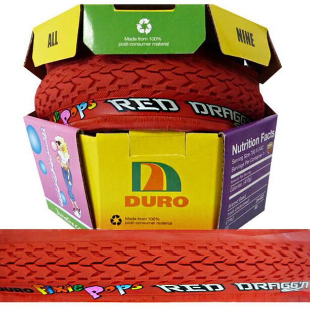 Duro Fixie Pops Taitettava rengas 700x24C, punainen