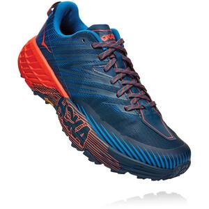 Hoka One One Speedgoat 4 Schuhe Herren majolica blue/mandarin red majolica blue/mandarin red