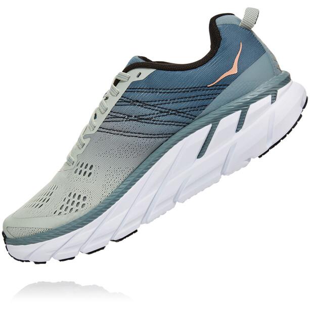 Hoka One One Clifton 6 Schuhe Damen lead/sea foam