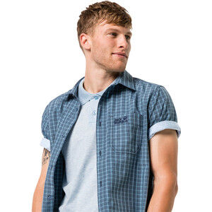 Jack Wolfskin El Dorado Kurzarmshirt Herren night blue checks night blue checks