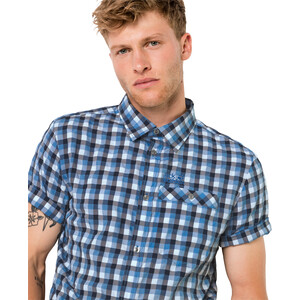 Jack Wolfskin Napo River Kurzarmshirt Herren night blue checks night blue checks