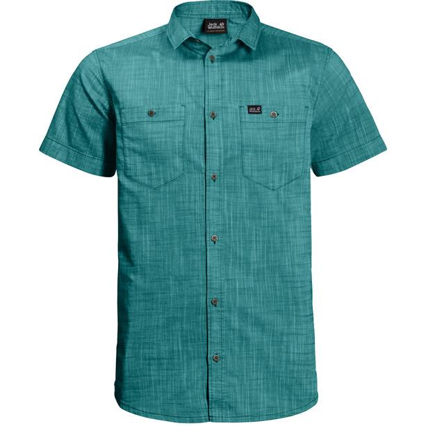 Jack Wolfskin Emerald Lake T-shirt Homme, Bleu pétrole