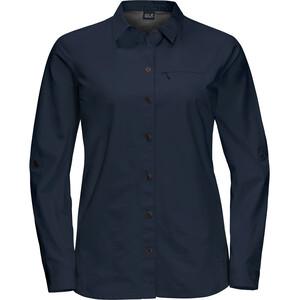 Jack Wolfskin Lakeside Roll-Up Langarmshirt Damen midnight blue midnight blue