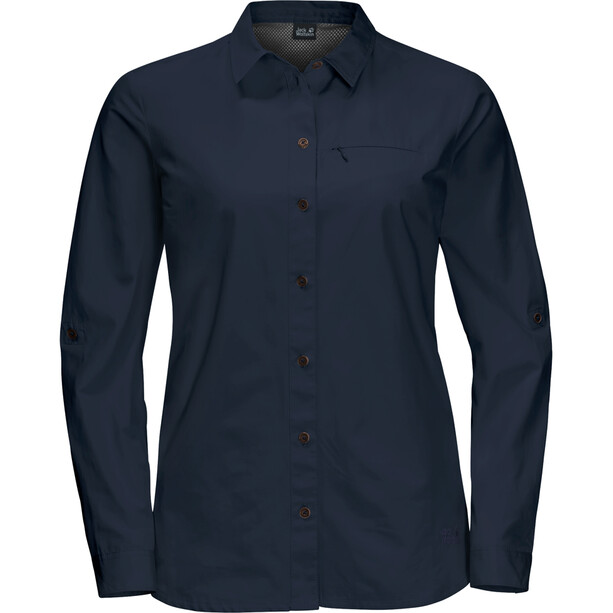 Jack Wolfskin Lakeside Roll-Up Langarmshirt Damen midnight blue