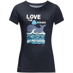 Jack Wolfskin Ocean T-Shirt Kinder night blue night blue